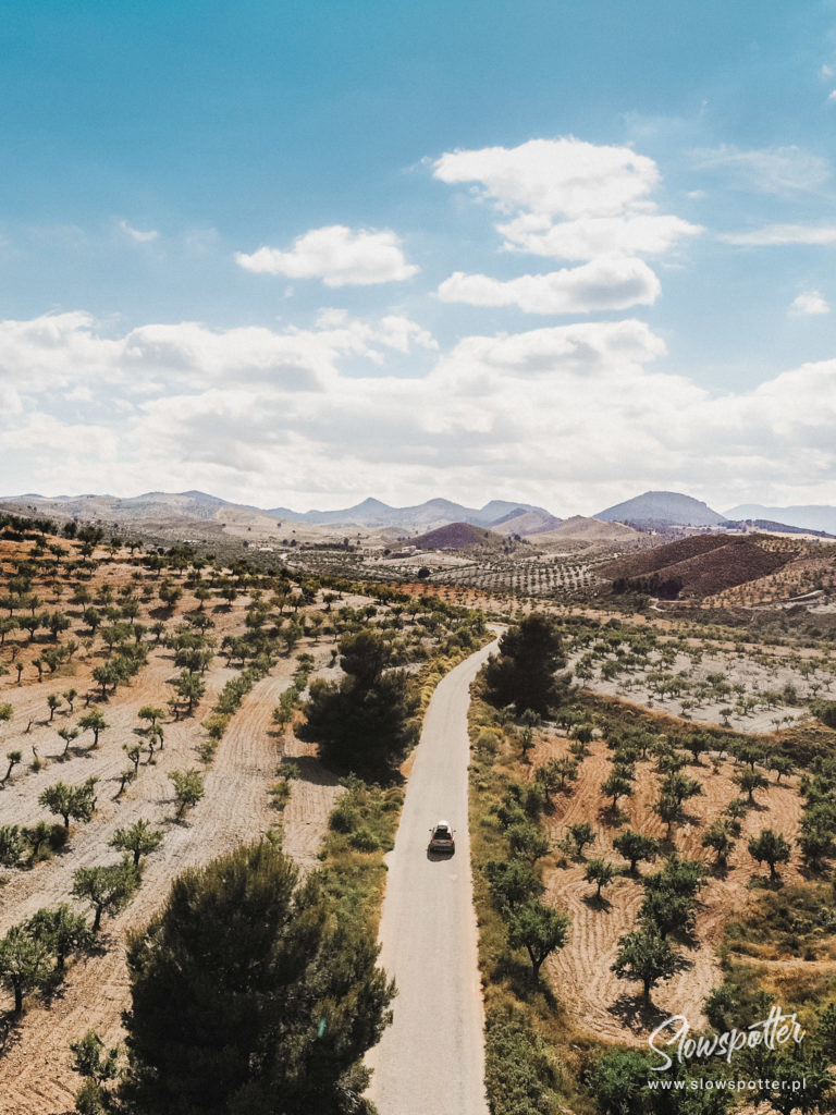 Rec.on Project Spain Andaluzja Hiszpania Wizyta Slowspotter ujęcie z drona drzewa migdałowe