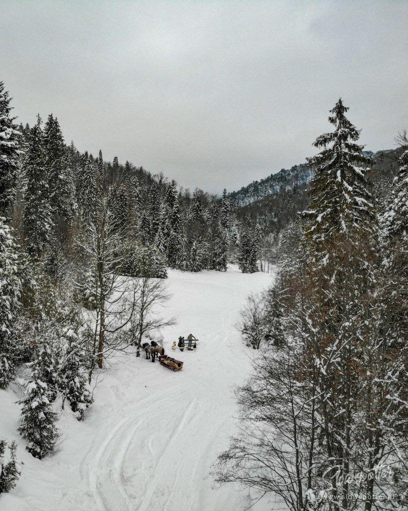 Chatta Huba Zima Nad Czorsztynem Slowspotter Gorce Kulig