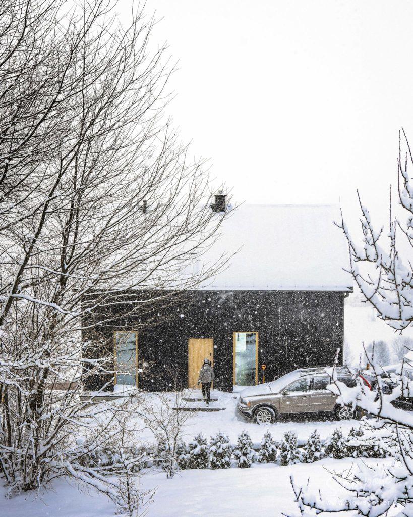 Chatta Huba Dom w stylu nowoczesnej stodoły Zima Nad Czorsztynem Slowspotter Gorce