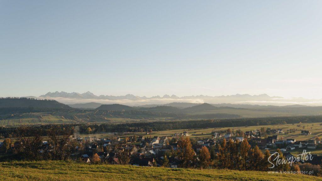 Gorski Azyl dom goralski widok na Tatry