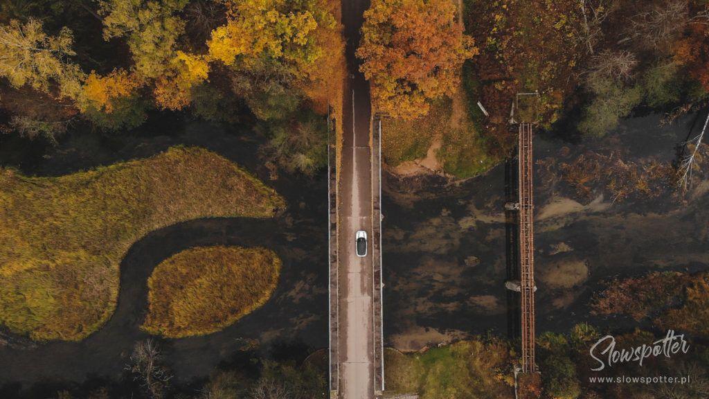 Rzeka Czarna Hańcza z lotu ptaka Slowspotter