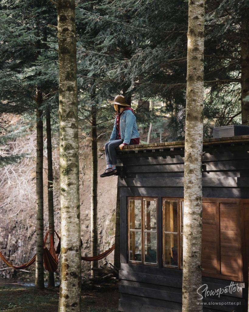 Novosiele Lifestyle Apartments Slowspotter Slow Cabin Bieszczady altanka nad rzeką