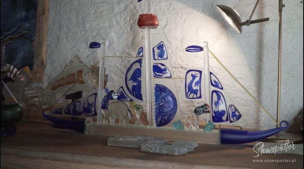 Szklana Manufaktura warsztat grawera z XIX wieku Slowspotter Dolny Slask