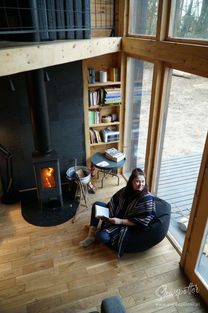 Slowspotter z wizytą w Bookworm cabin domek w lesie
